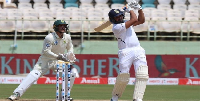 Rohit sharma 3rd century in south africa trst series