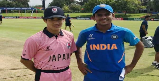 India won in junior world cup cricket against japan