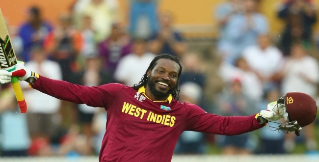 Gayle hits highest sixers