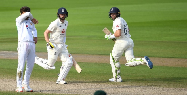 England won in first test against pakistan