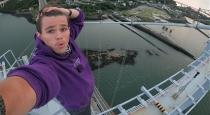Terrifying moment teenage daredevil risks his life to climb Forth Road Bridge in Scotland