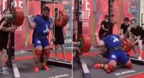Russian Powerlifter Alexander Sedykh Fractures Both Knees After Attempt at 400kg Squat Goes Wrong
