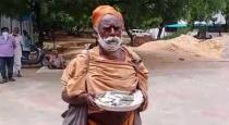 Begger Old man donate that money for corono refund