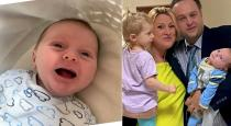 Baby says helo after 2 weeks of born viral video