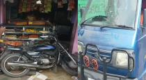 young boy car accident in shop