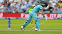 Stokes reacted badly after getting out