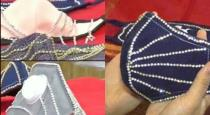 Surat jewelry shop sells diamond studded face mask for wedding