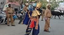 Uttarkand police dreased up yemraj in haridwar street