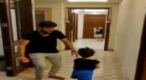 suresh-raina-play-cricket-with-daughter