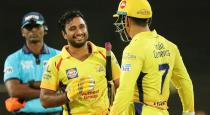Famous CSK player using basic model mobile phone video