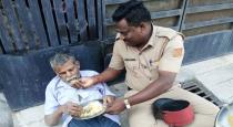 Police officer helped old man in puducherry