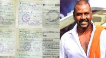 Raghava lawrence gave 25 thousands to differently abled persons