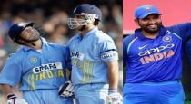 Rohit increased on sachin and Ganguly