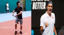sachin shared his tennis video