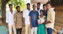 Vijay fans help to child family